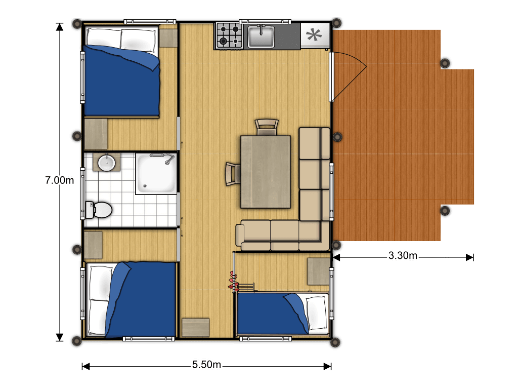Medley Lodge AN4 plattegrond