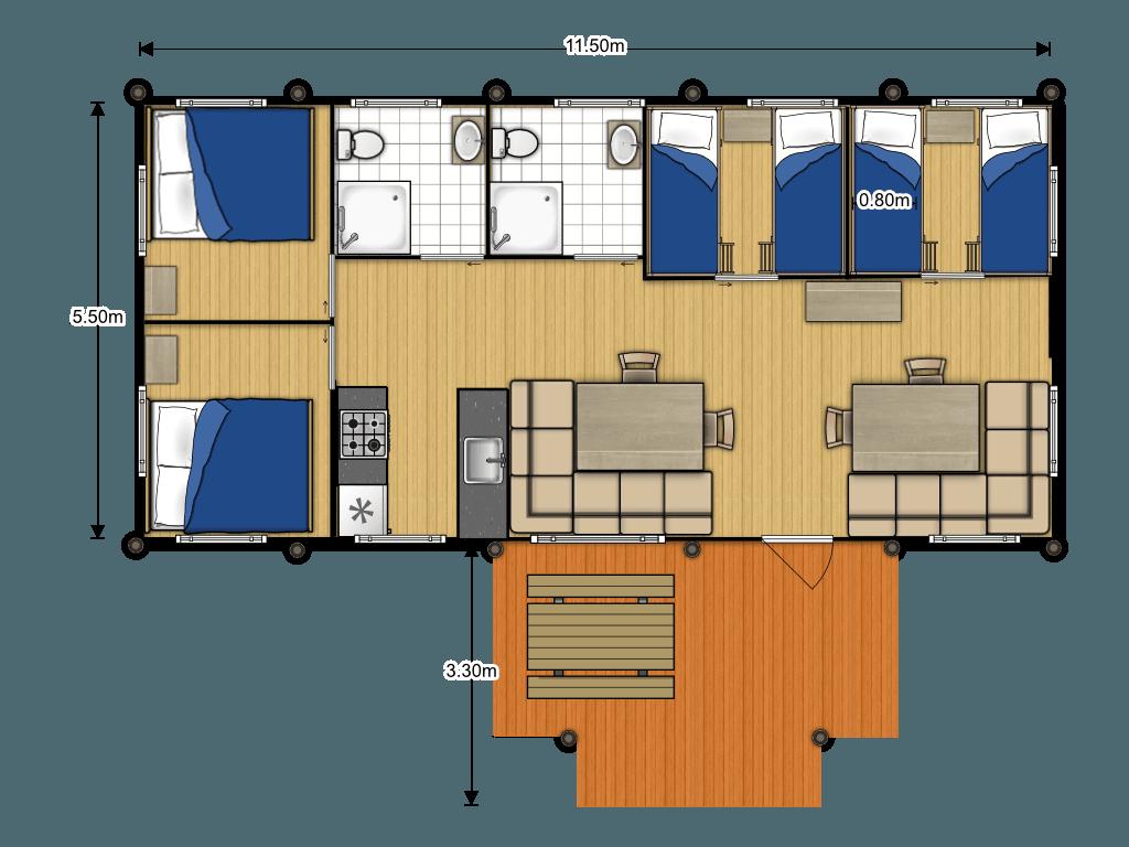 Medley Lodge AN6 plattegrond