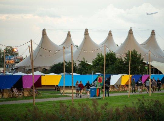 Glamping tent festival Mysteryland